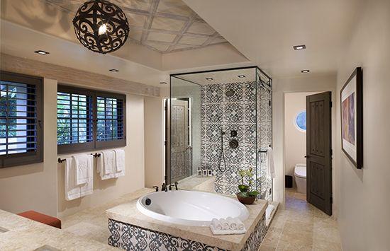 I adored our bathroom at Rancho Valencia (My hOtel: Rancho Valencia in San Diego, California)