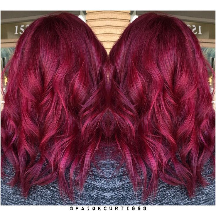 Raspberry hair.