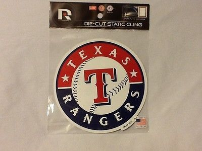 Texas Rangers Die Cut Static Cling Decal Sticker 5 X 5 NEW!! Car Window
