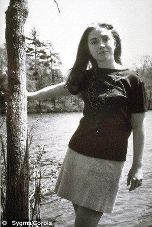 Hillary Rodham Clinton during her student days at Wellesley College.