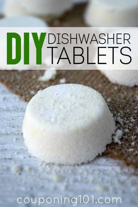 DIY Dishwasher Tablets | Save money by making your own dishwasher tabs! This easy recipe calls for only 3 ingredients!