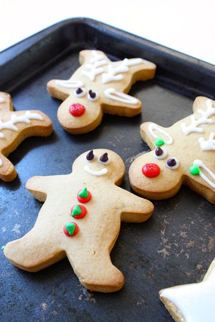 gingerbread men & rudolf reindeer Meg's Vanilla Bean & Gingerbread Cookies :: Megann's Kitchen Tuesday, 18 December 2012