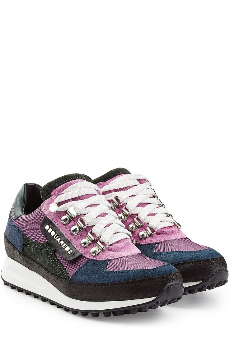 Dsquared2 Leather, Mesh and Suede Sneakers