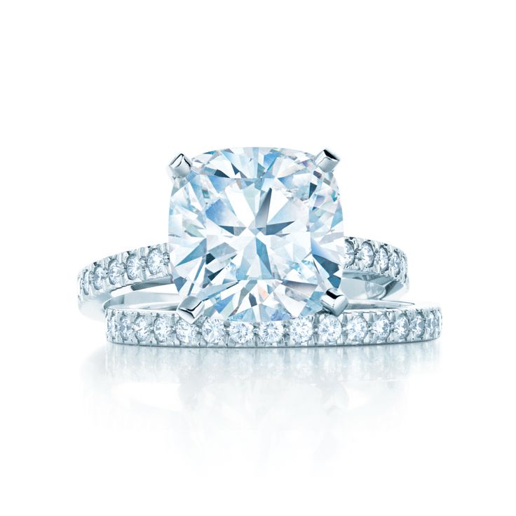 Tiffany Novo® engagement ring with matching diamond band. # ...