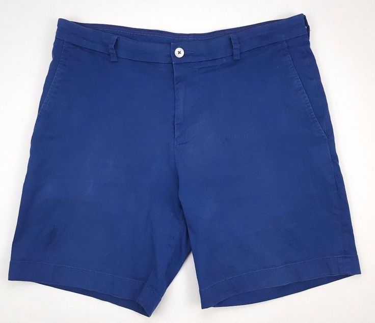 SOUTHERN Tide SHORTS Mens BLUE 36 Flat FRONT Short COTTON Blend 13759 SIZE Man** #SouthernTide #FlatFront