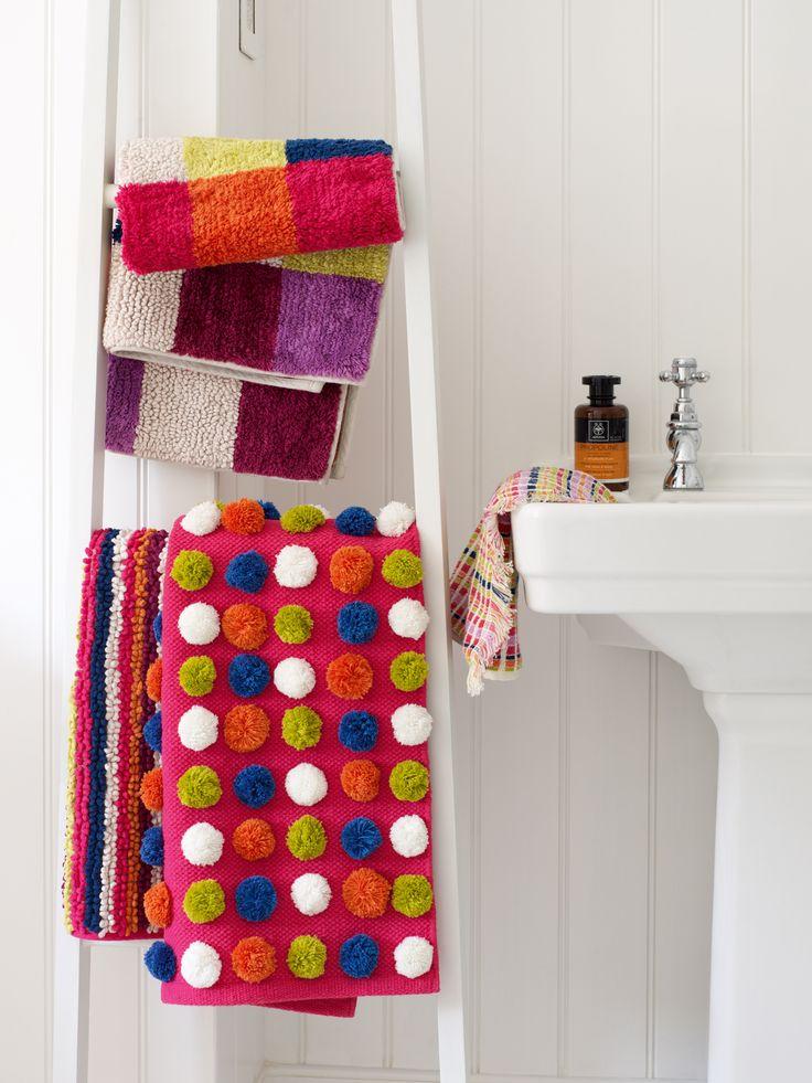 Bohemian bath mats and towels
