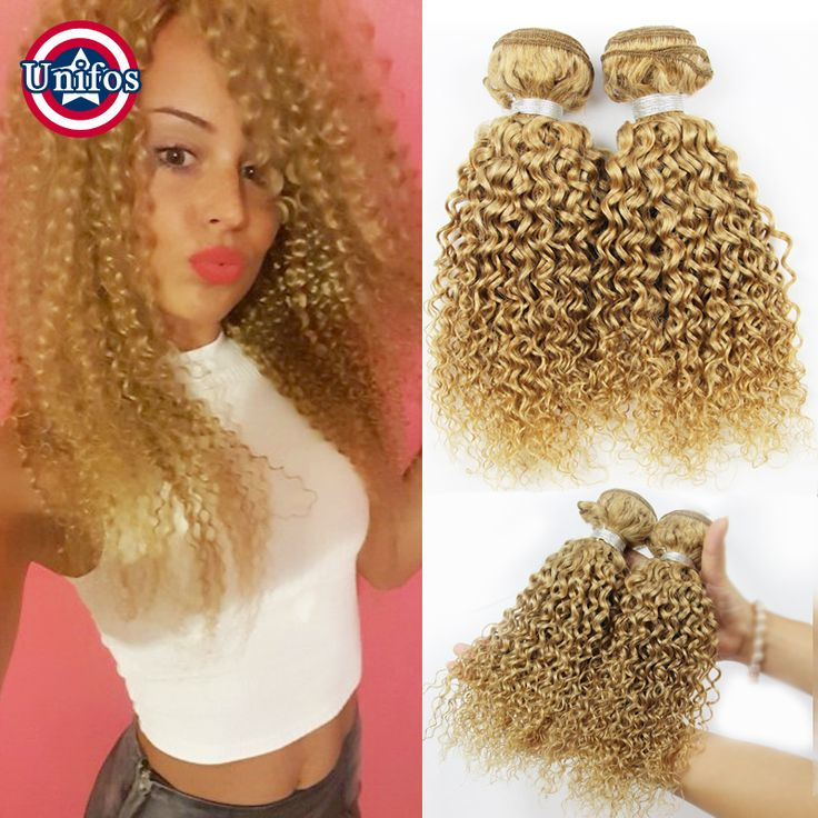 Find More Human Hair Extensions Information about Honey Blonde Brazilian Hair 4 Bundles Brazilian Blonde Kinky Curly Virgin Hair Human Hair Extensions Jerry curly Hair weave #27,High Quality hair weave on,China hair weave Suppliers, Cheap hair weave packaging from Unifos Hair Products Co.,Ltd. on Aliexpress.com