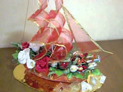 "Корабль из конфет ""Алые паруса"" - YouTube"