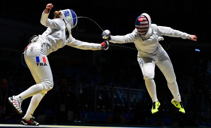 Image result for fencing rio olympics