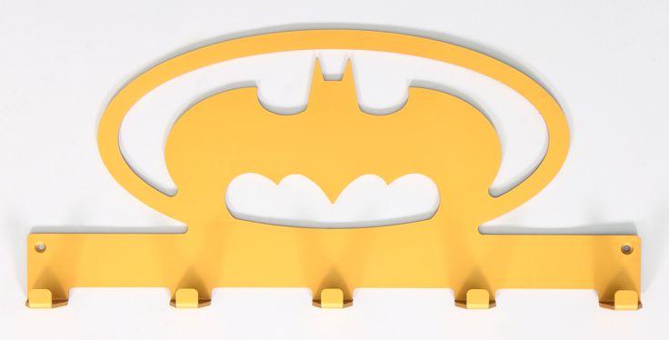 Gold bat themed coat rack