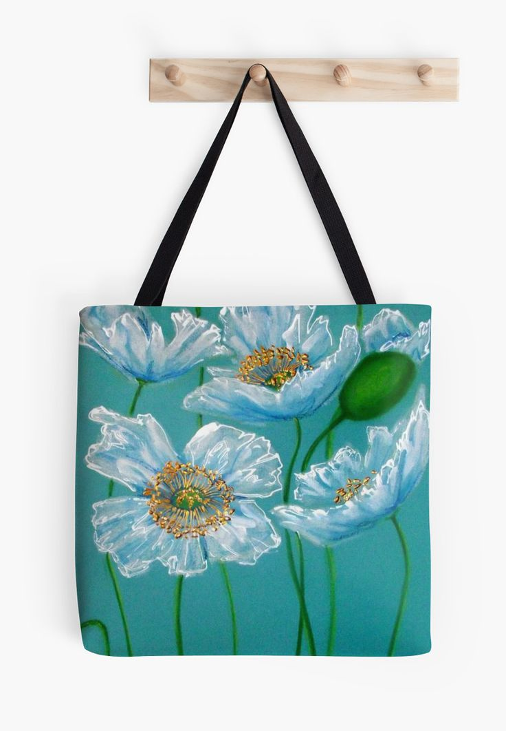 Ooh la la #tote bags!  Flaunt your floral fabulosity with this unique design --- White Poppies by Cherie Roe Dirksen