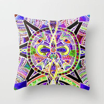 """""""pace"""" Throw Pillow by Rachna Radar - $20.00"""