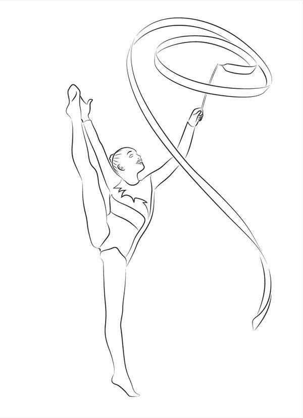 пожалуйста, рисунок по гимнастике легко один