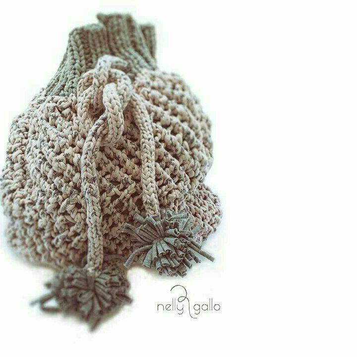 "#handmade #knitting #needles #bag #bagpack #pink #gray #withlining #greekdesigner #cotton…"""