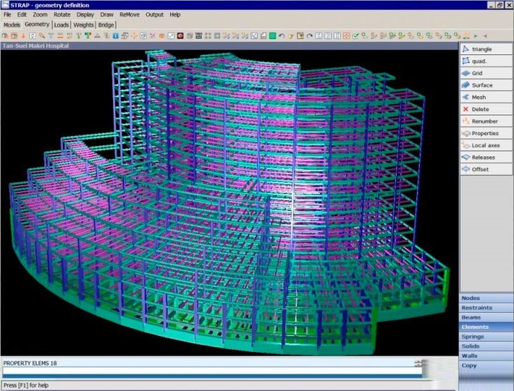 STRAP by ATIR Engineering Software - STRAP ia a Windows based suite of finite element static and dynamic analysis programs for buildings, bridges and other structures. - #finiteelement #staticanalysis #dynamicanalysis #buildings #bridge