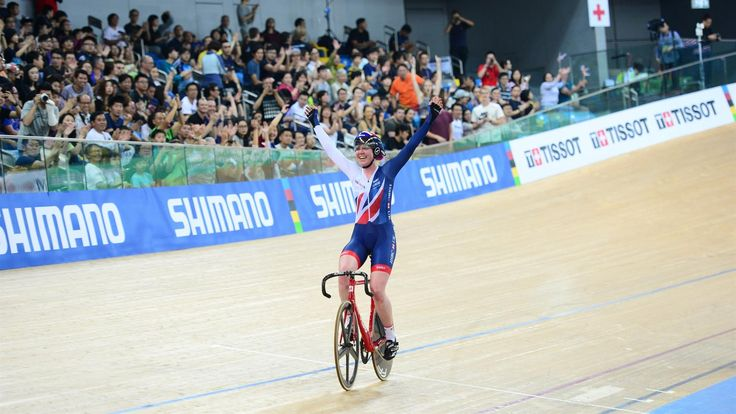 April 15 2017 - Britain's Katie Archibald wins gold in the women's omnium at the UCI Track World Championships 2017 in Hong Kong
