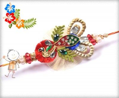 Fancy  #Rakhi Collection 2015 – Send  #Rakhi to #USA #UK #Canada #India #Australia  #Dubai  #NZ #Singapore.  Antique Peacock Traditional Rakhi, surprise your loved ones with roli chawal, chocolates and a greeting card as it is also a part of our package and that too without any extra charges. http://www.bablarakhi.com/send-fancy-rakhi-online/1146-send-antique-peacock-traditional-rakhi-online.html