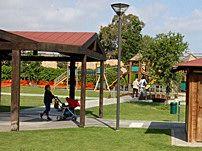 Giochi all'aperto all'interno del Parco dell'Ex Vetreria di Pirri