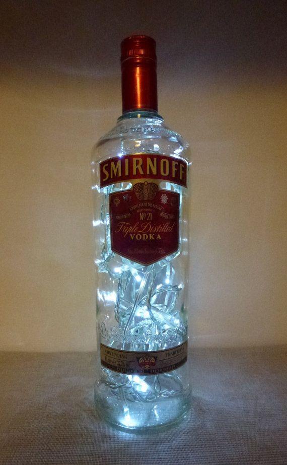 Bottle Lamp 1 litre SMIRNOFF No. 21 VODKA mains by CHANGEWORKSHOP