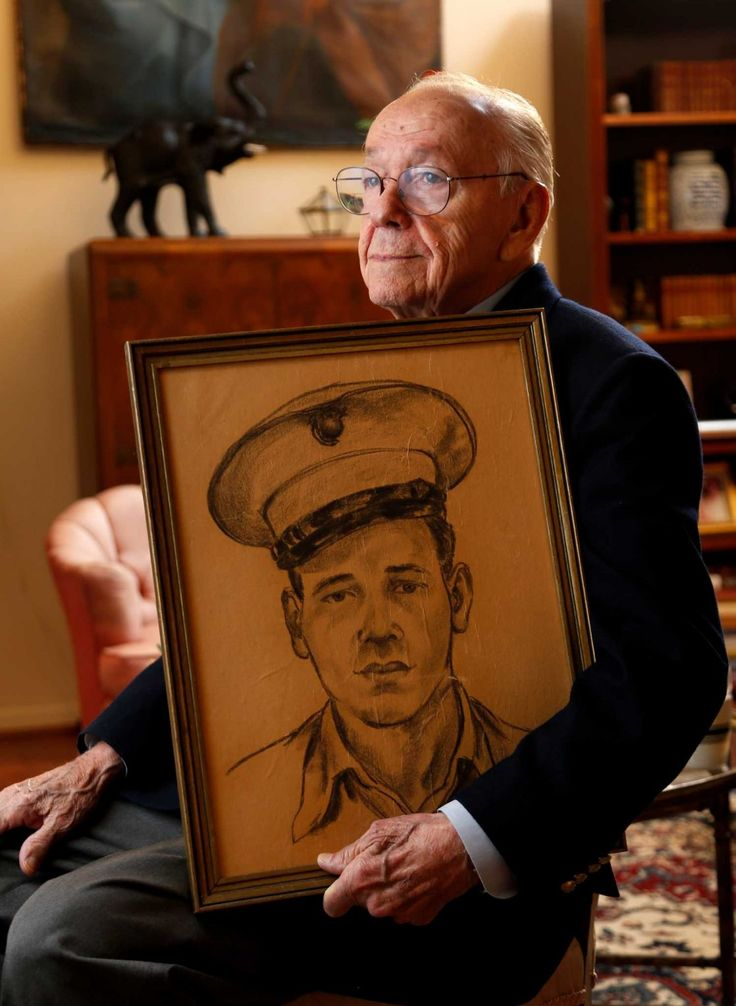 Seventy years after the ferocious Battle of Iwo Jima, the impressions of the conflict remain with United States Marine, Bill Sherrill - from the Purple Heart and photos he keeps at his house to the gold USMC pin he wears on his lapel. More: http://www.houstonchronicle.com/news/houston-texas/houston/article/Iwo-Jima-veteran-to-share-his-story-on-70th-6088643.php?t=30a35157f3&cmpid=twitter-premium#/5