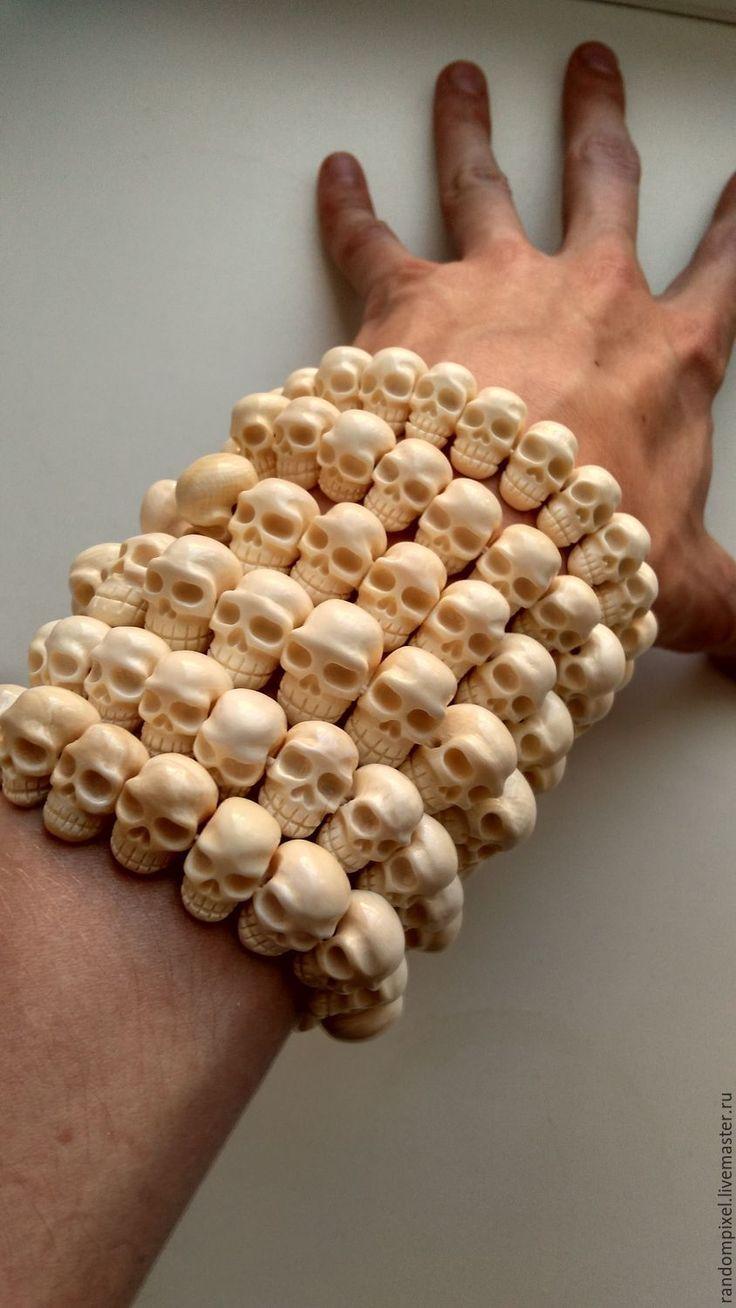 """Купить Бусины ручной работы """"Черепа"""" из бивня мамонта - череп, черепа, бусины из бивня мамонта"""