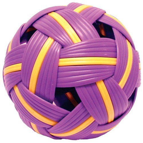 "Netpro Takraw Ball by NetPro. $23.70. A very unique hand-woven, plastic like ball used in fun-filled action games of foot volleyball known in Asia  as Takraw.Enjoy the fast action ""circle game"" where players try to keep the ball in the air for as long as possible without using their hands or arms. Playing guide included."