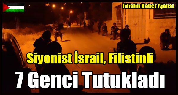 İsrail işgal kuvvetleri Batı Şeria'daki birçok yerden 7 vatandaşı tutukladı ve birçok belgeye el koydu.  Binlerce Filistin vatandaşı, Batı Şeria ve Gazze Şeridi'nin çeşitli yerlerinde,işgal altındaki Filistin Toprak Günü'nün 41. yıldönümü anısına, barışçıl gösterilere katıldı.   #baskın tutuklama #filistin toprak günü #filistinli 7 genç #israil tutuklama