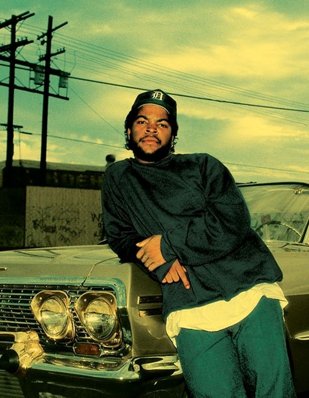"""Ice Cube.Image from the movie,""""Boyz in the Hood."""""""