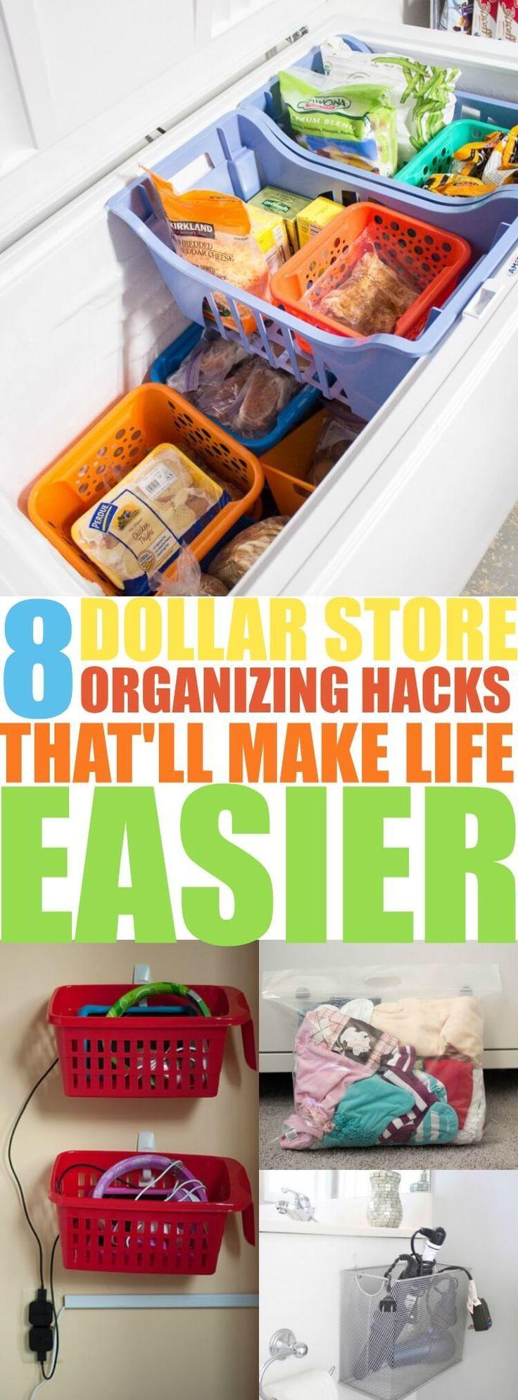 8 Dollar Store Organizing Hacks That'll Turn You Into An Organizing Genius