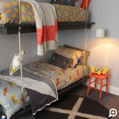 Godfrey Hirst   boys bedroom   The Home Team TV   Get the look with eco+ Sunrise in Summer Storm. #godfreyhirst #boysbedroom #carpet #ecopluscarpet #carpets #cleanswithjustcoldwater