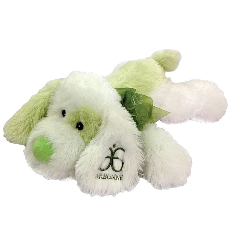 """Meet """"Chance"""", our plush Arbonne Foundation Dog. Proceeds from each purchase will benefit the Arbonne Charitable Foundation and give teens a chance to build their self-esteem through Foundation programmes."""