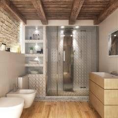 Bagno: Bagno in stile in stile Rustico di Render&Design   ONLINESTUDIO