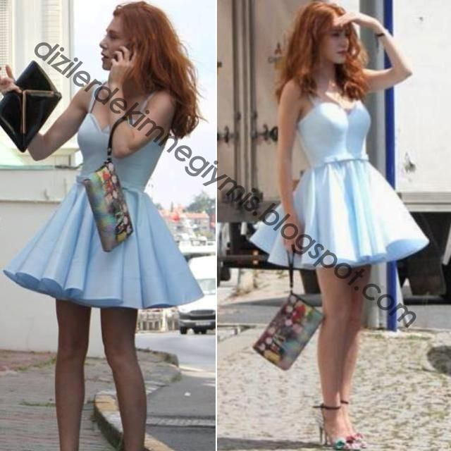 Kiralık Aşk - Defne (Elçin Sangu), Blue Dress