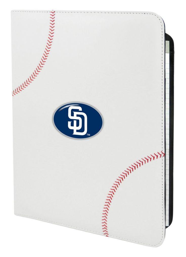San Diego Padres Classic Baseball Portfolio - 8.5 in x 11 in