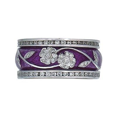 Hidalgo Stackable Rings Flowers Collection Set (RR191 & RB5006) - Hidalgo Jewelry