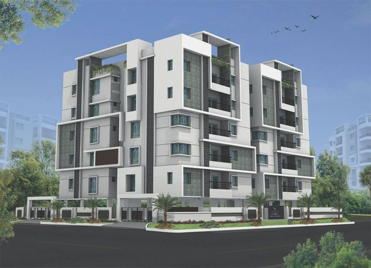 Modern Apartment Building Elevations: Front Compound Wall Elevation Design
