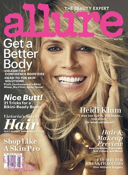 .@HeidiKlum is flawless on the cover of Allure.