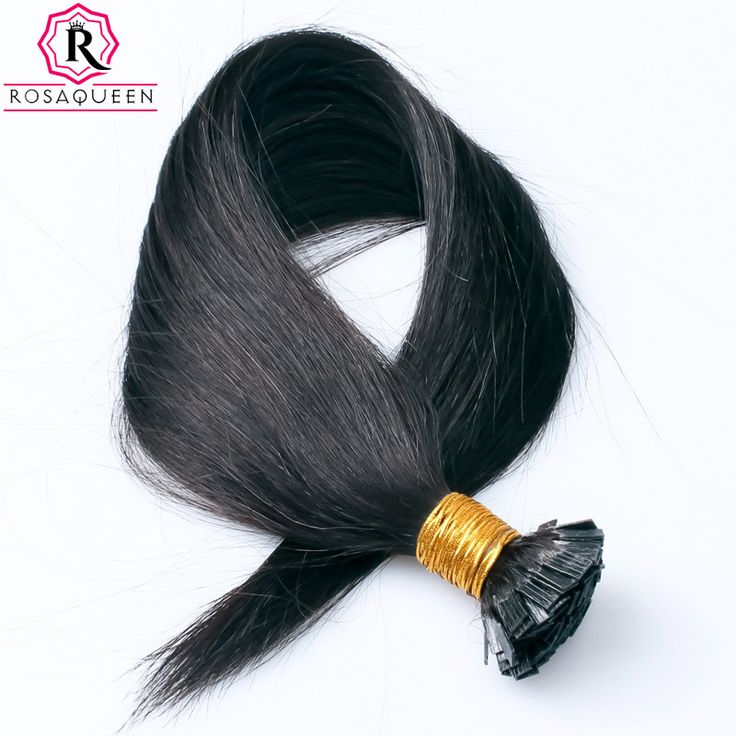 Flat Tip Pre Bonded Hair Extensions Keratin Capsule Remy Hair Extension Natural Straight Brazilian Human Fusion Hair Rose Queen