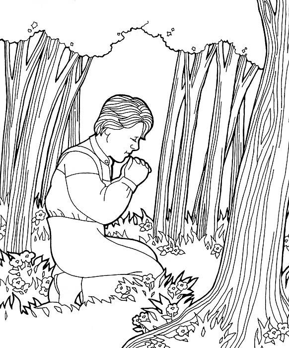 Joseph Smith Coloring Pages Kids