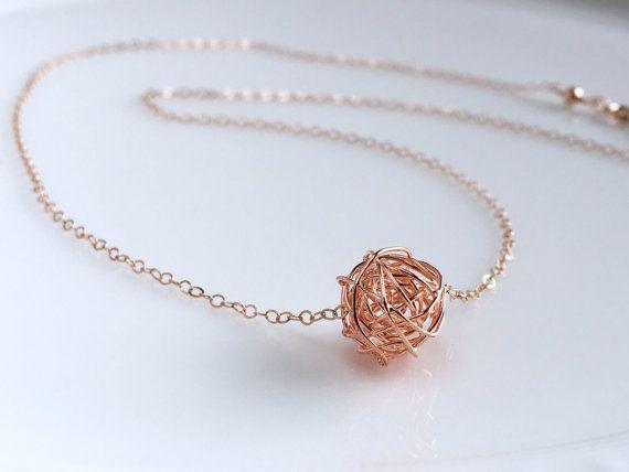 Rose Gold Choker Rose Gold Love Knot Necklace by AustinDowntoEarth