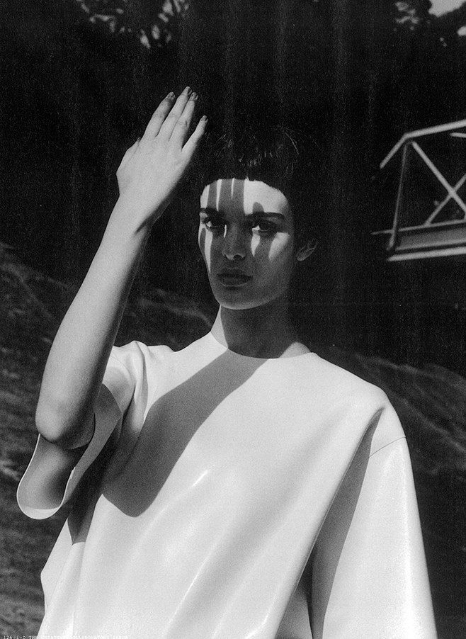 Minimal White Top - clean minimalist fashion // Ph. Jamie Hawkesworth for i-D Magazine, Fall 2013