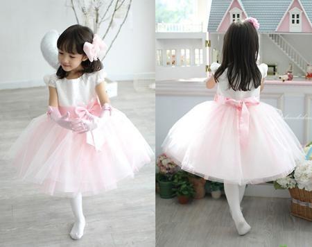 Цветок девочки платье платье юбки розовая принцесса Кампус хор детей в танец костюмы одежда  — 772.06р.