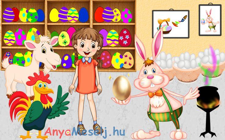 Dorka, Gyuri kakas és Mekkmekk a kecske elindul, hogy megkeressék az arany tojást!   Kalandos útjukat olvashatjátok itt: http://www.anyameselj.hu/az-arany-tojas/