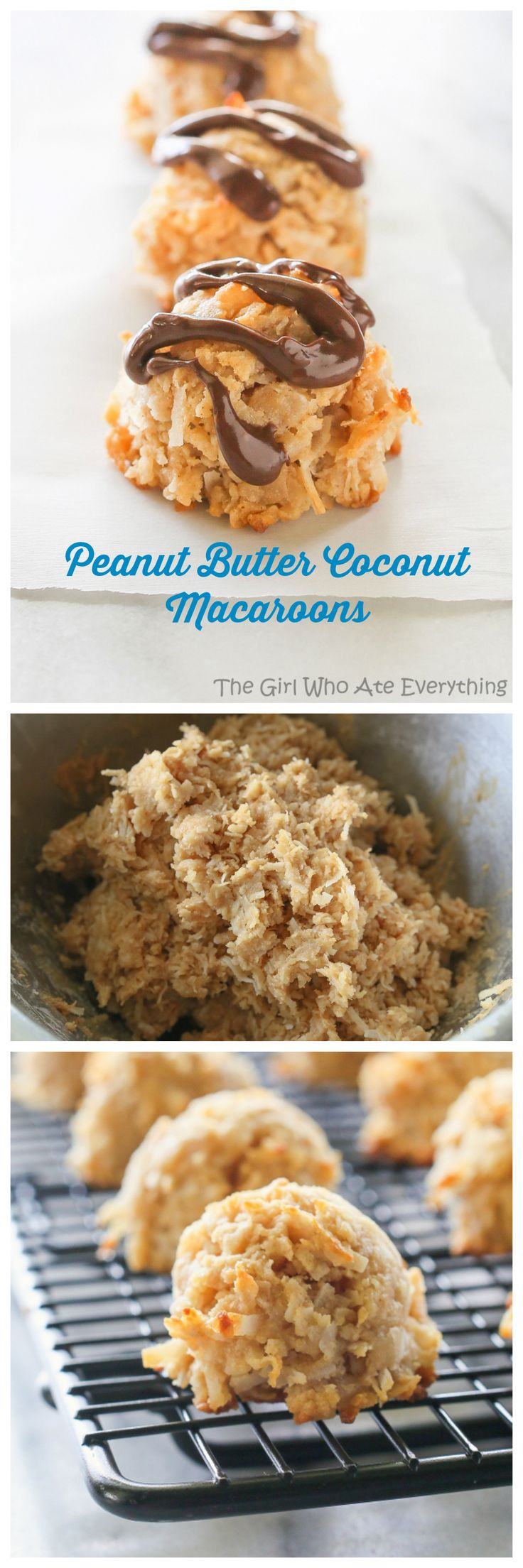 Peanut Butter Coconut Macaroons - The Girl Who Ate Everything