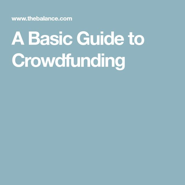 A Basic Guide to Crowdfunding
