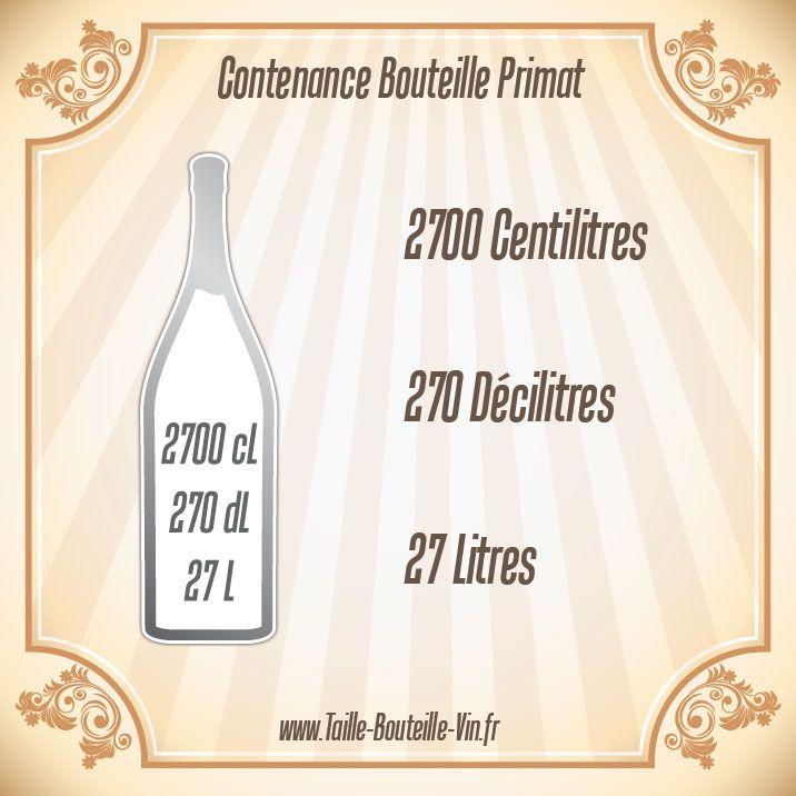 Contenance bouteille primat
