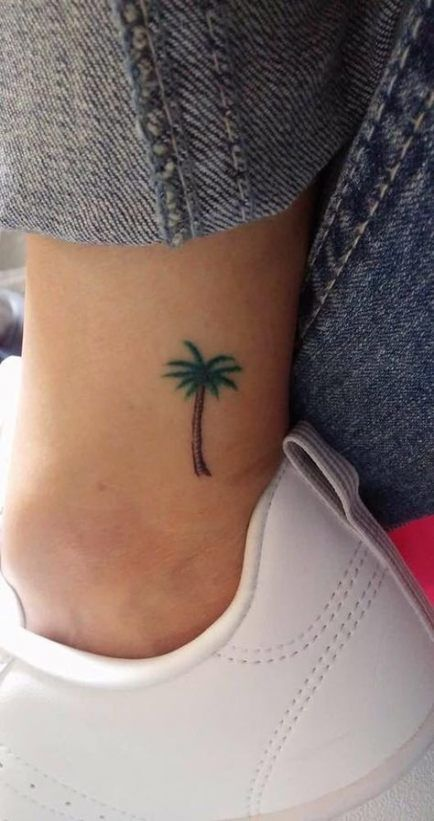 Small Palm Tree Tattoo Ankle Fonts 69 Ideas