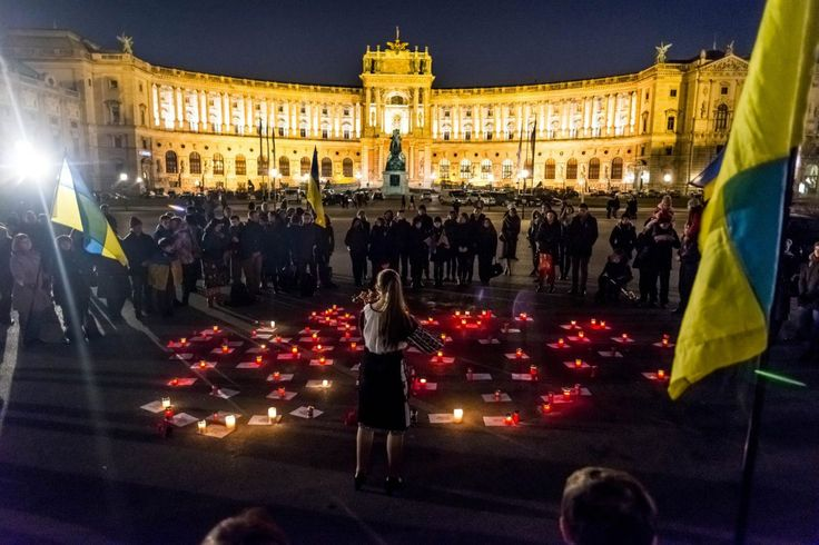 Gedenken an den Jahrestag des Ukrainischen Maidans am Heldenplatz in Wien  #maidan #euromaidan #eventfotografie #wien
