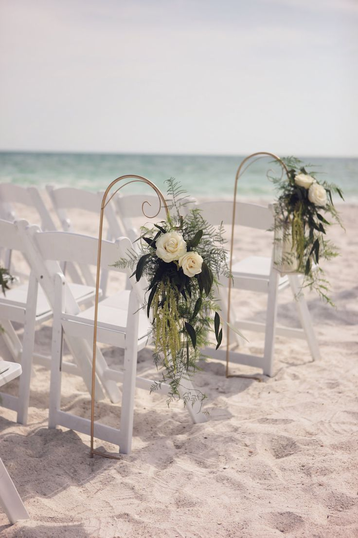 Bradenton Waterfront Beach Wedding Ceremony With Hanging Ivory