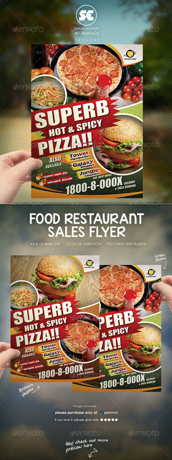 Restaurant Food Flyer Template #design Download: http://graphicriver.net/item/restaurant-food-flyer/7526847?ref=ksioks